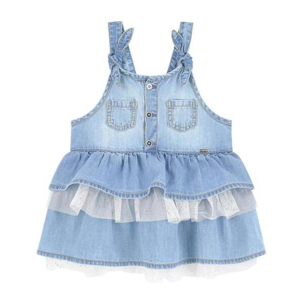 Denim Pinafore Dress, Blue