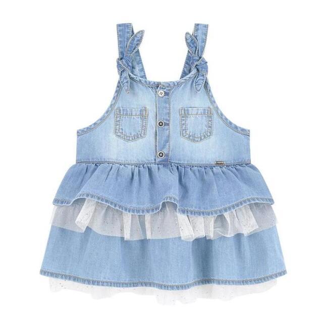 Denim Pinafore Dress, Blue