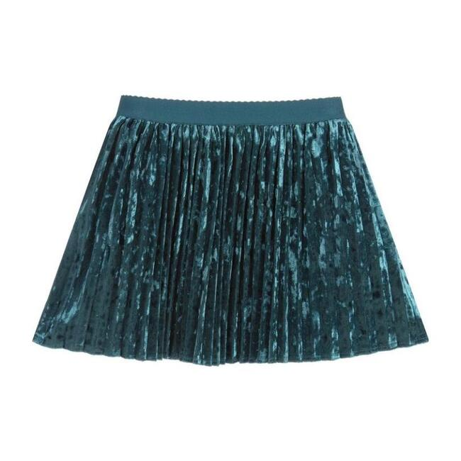 Emerald Pleated Skirt, Green