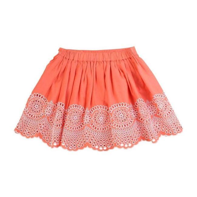 Embroidered Skirt, Orange