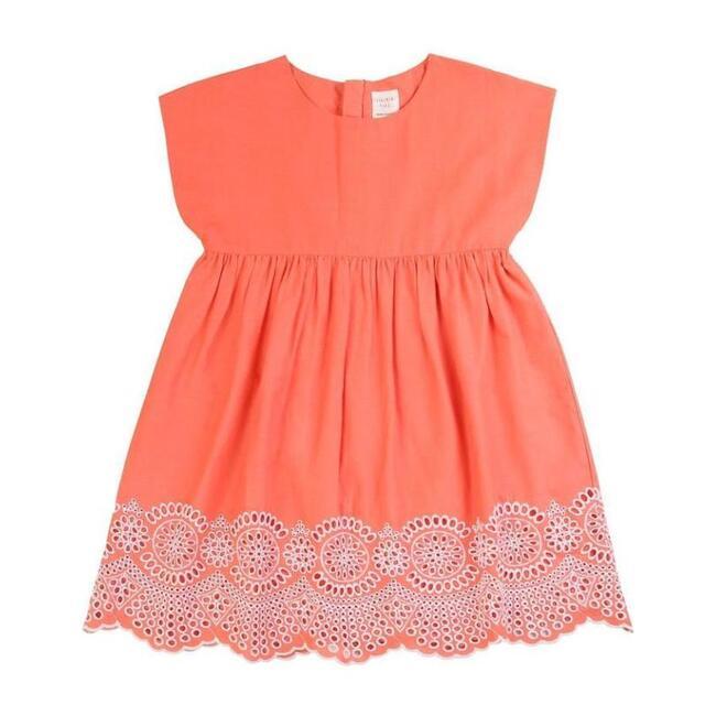 Embroidered Dress, Orange