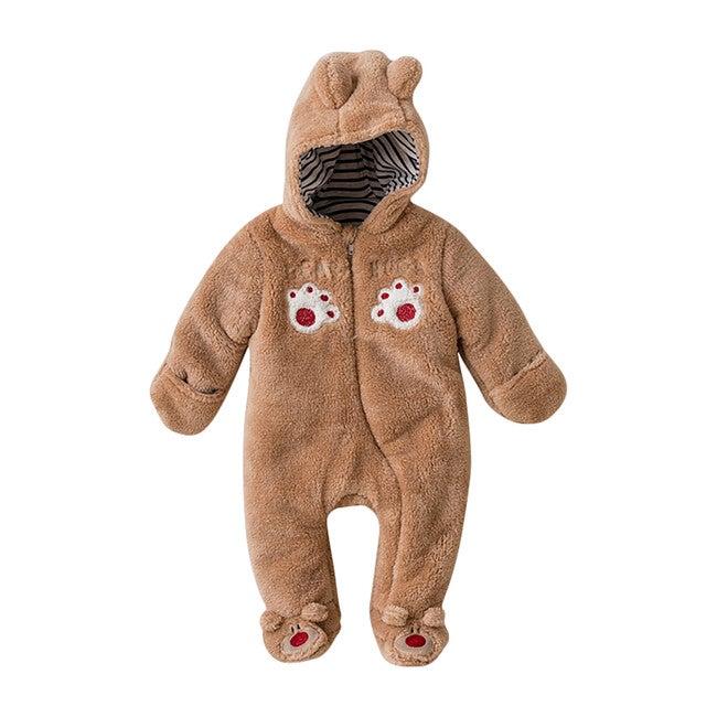 Bear Paws Bodysuit, Tan