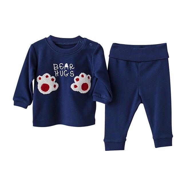 Bear Hugs Outfit Set, Navy
