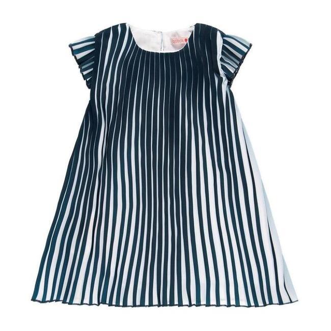 Striped Dress, Navy - Dresses - 0