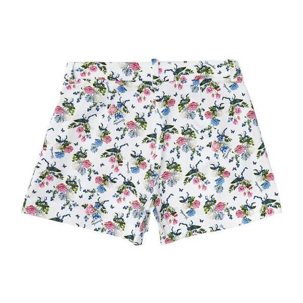 Floral Print Shorts, White