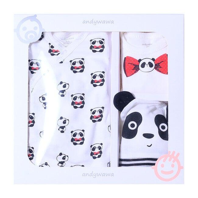 5pc Panda Print Homecoming Set, Cream