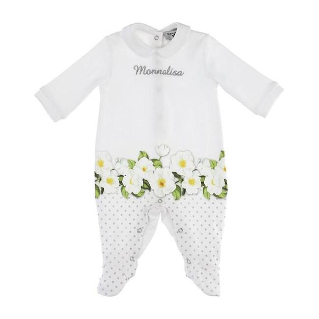 Flower Bodysuit, White