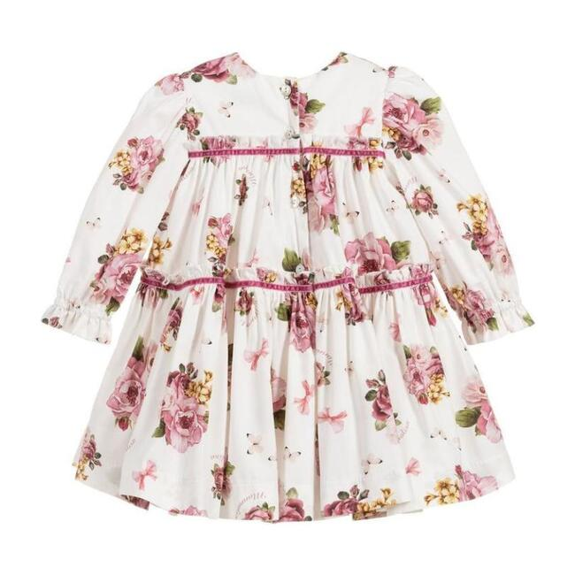 Floral Panna Dress, White