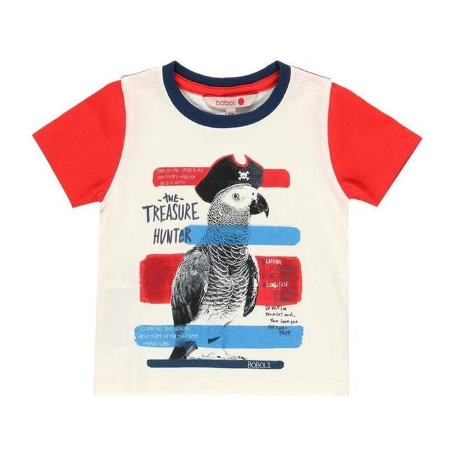 Parrot Graphic T-Shirt, White