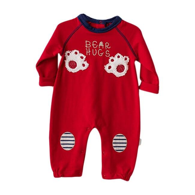 Bear Hugs Bodysuit, Red