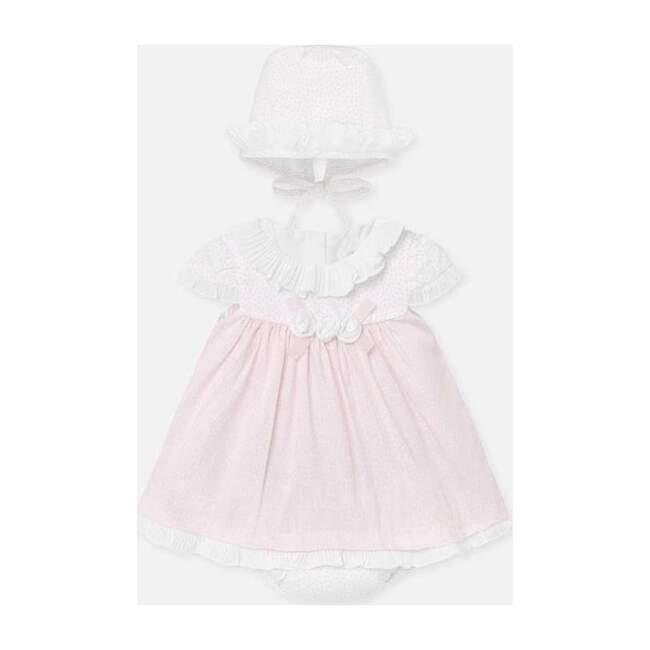 Baby Rose Dress & Hat Set, Pink