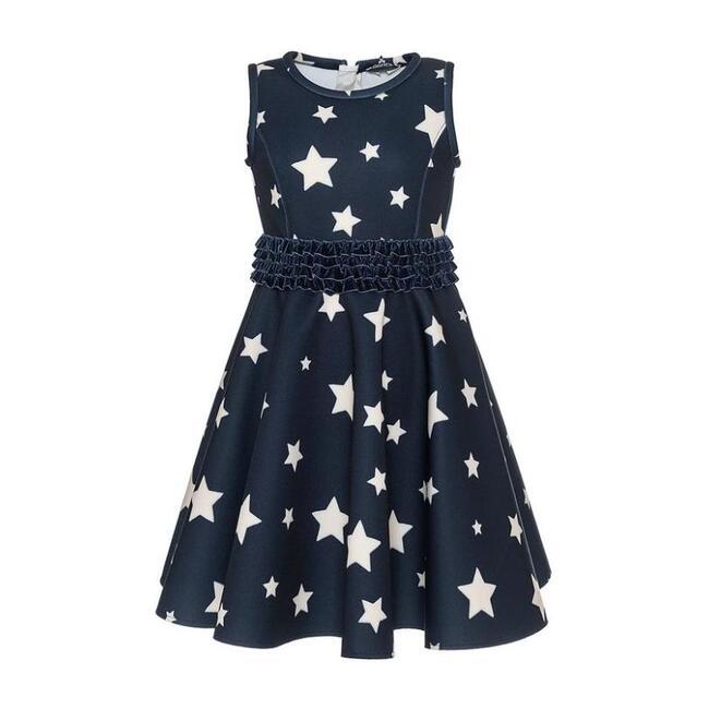 Blue Star Dress, Navy