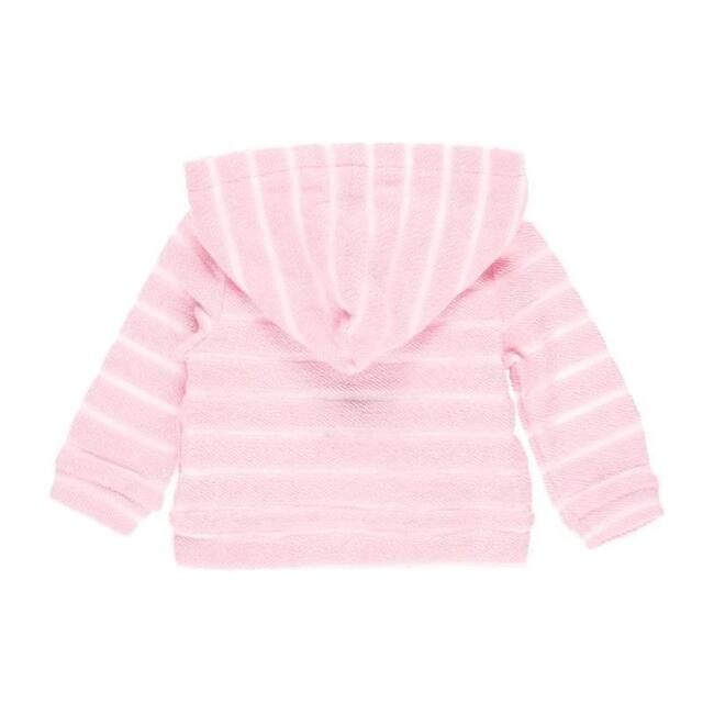 Striped Knit Jacket Jacket, Pink