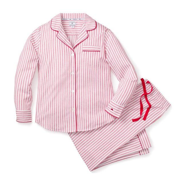 Women's Pajamas, Antique Red Ticking