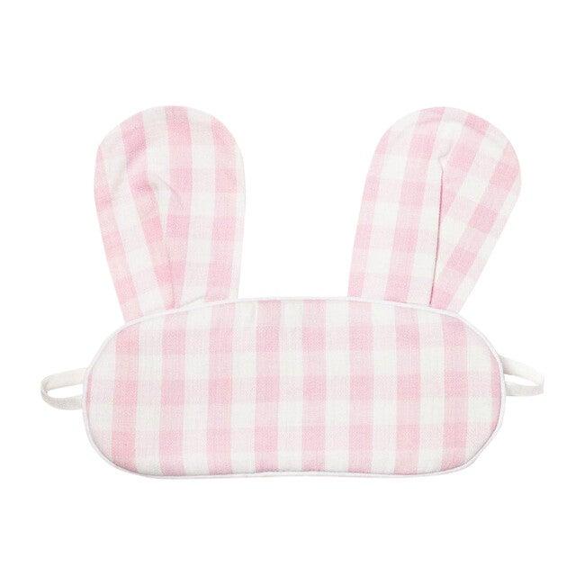 Pink Gingham Bunny Eyemask