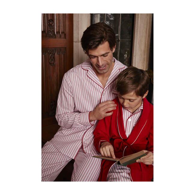 Men's Pajamas, Antique Red Ticking