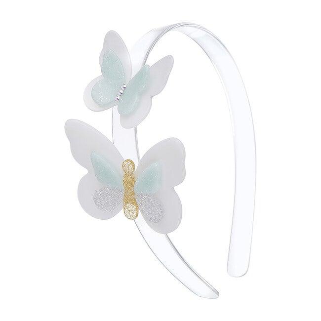 Double Butterfly Headband, Mint
