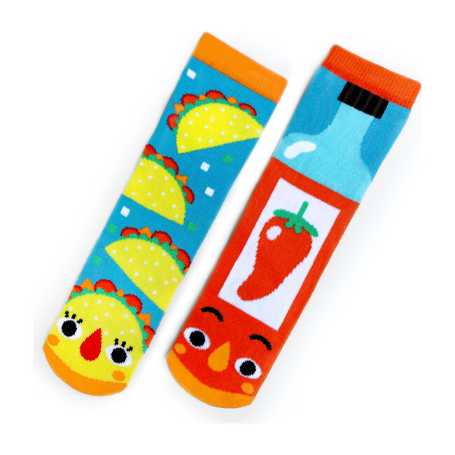 Taco & Hot Sauce, Mismatched Socks Set
