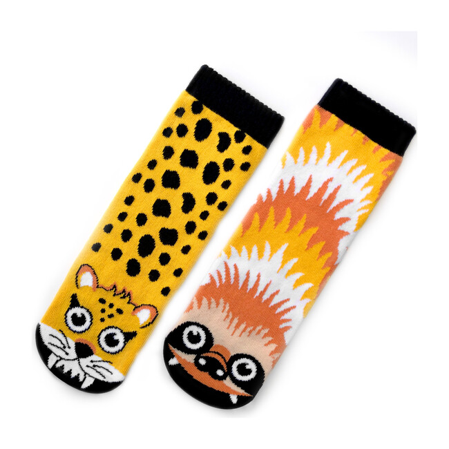 Sloth & Cheetah, Mismatched Socks Set