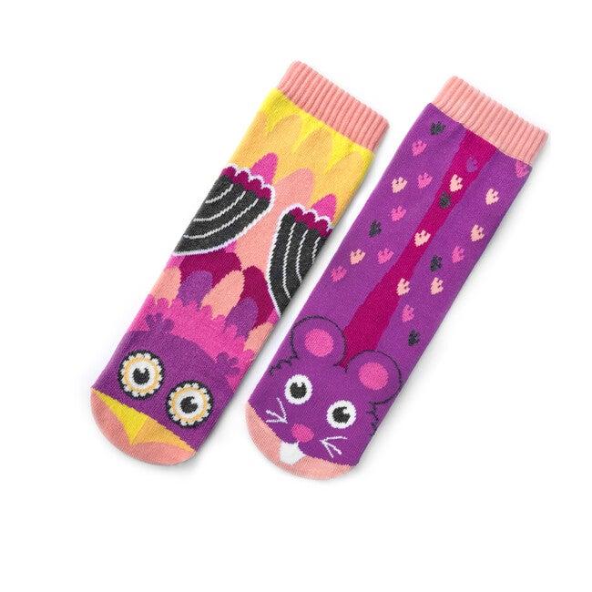 Owl & Mouse, Mismatched Socks Set