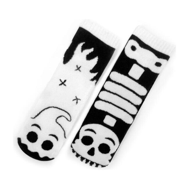 Ghost & Skeleton, Glow in the Dark Mismatched Socks Set
