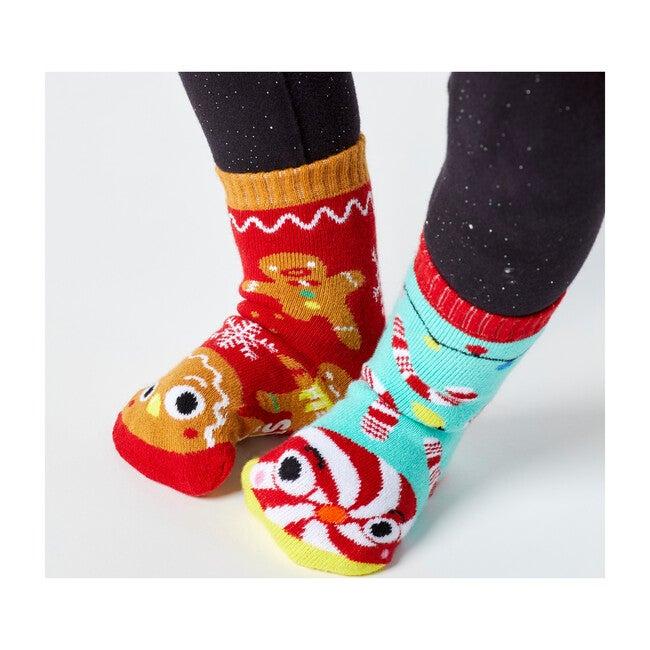 Gingerbread & Candy Cane, Mismatched Socks Set