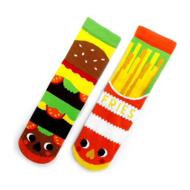 Burger & Fries, Mismatched Socks Set