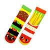 Burger & Fries, Mismatched Socks Set - Socks - 1 - thumbnail