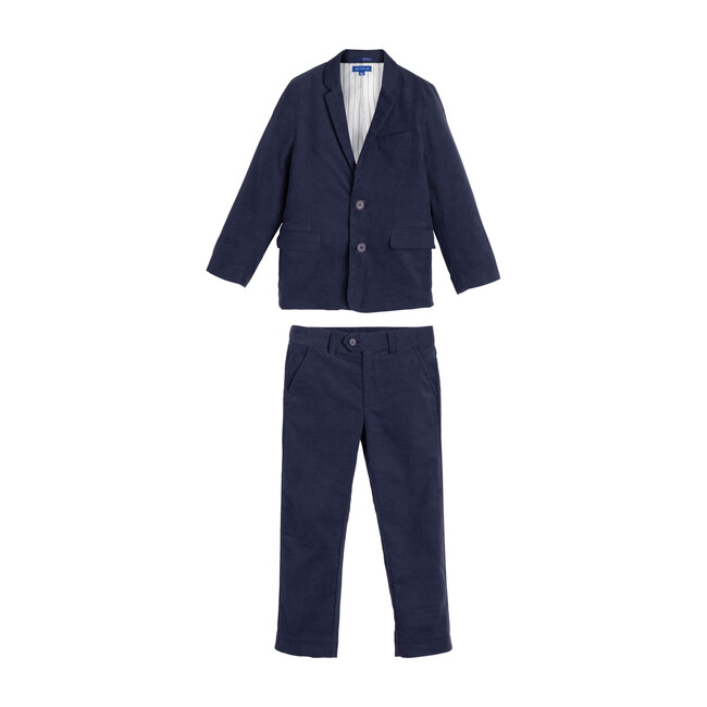 Adam Cord Suit, Navy