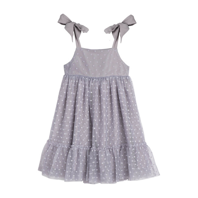Anja Tulle Dress, Dusty Blue