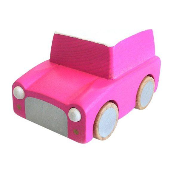 Kuruma Pull-Back Car, Pink