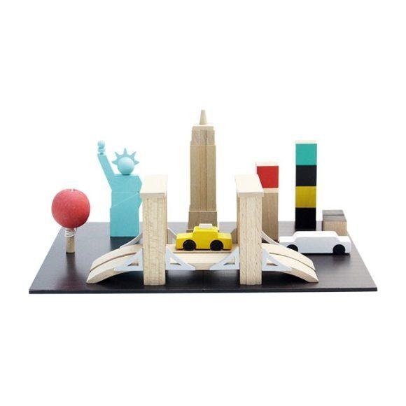 Machi Magnetic NYC Blocks Chalkboard Set