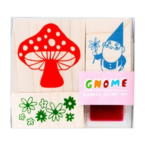 Gnome + Mushroom Small Stamp Kit