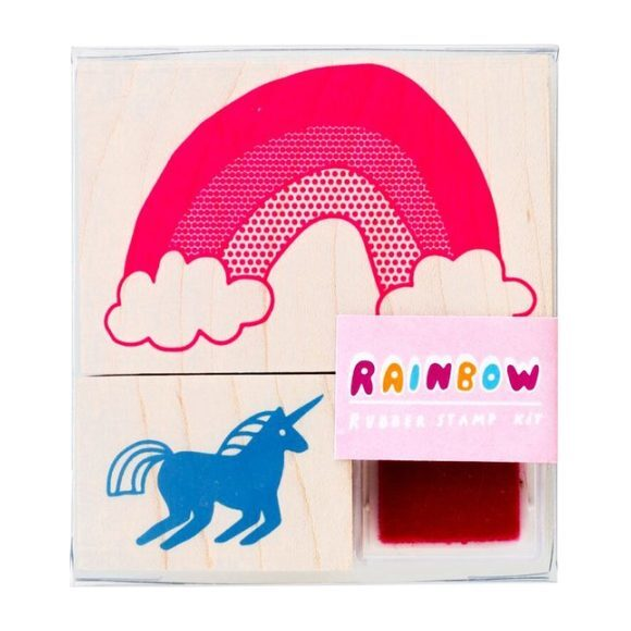 Unicorn + Rainbow Small Stamp Kit