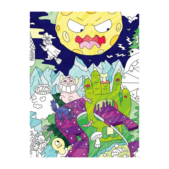 Zombies Coloring Poster