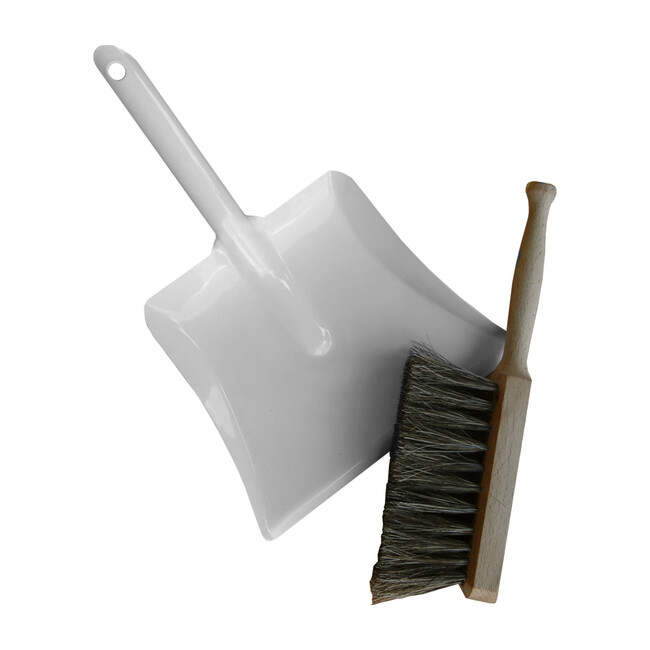 Children's Dustpan Set, white