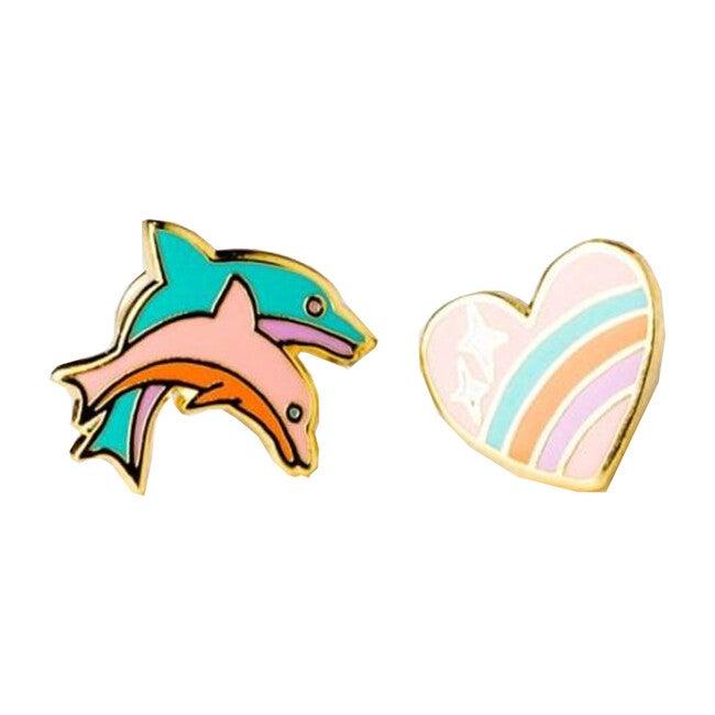 Heart + Dolphin Earrings