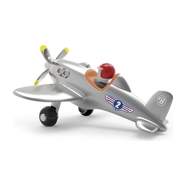 Propeller Jet Plane, Silver