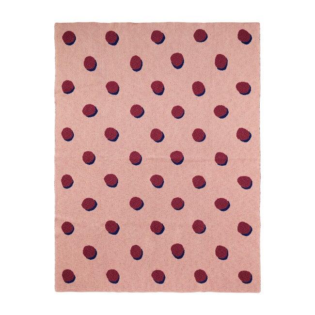 Double Dot Blanket, Rose