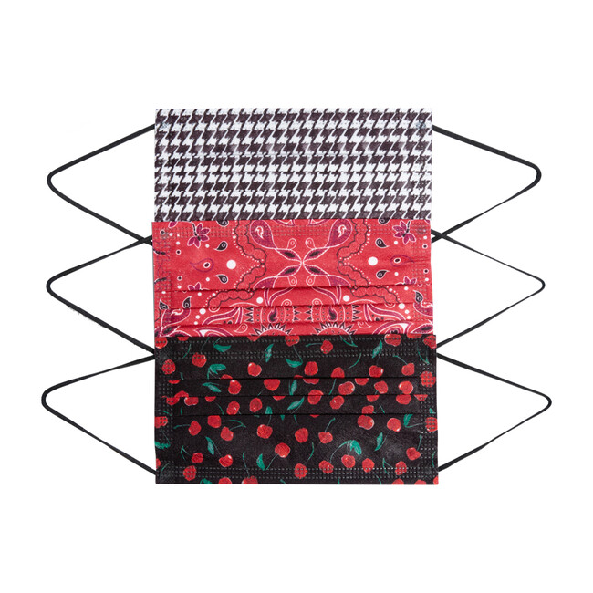 Adult Cherries Mixed Face Mask, 5 Pack