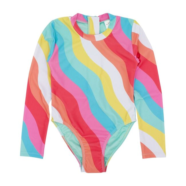 Wave Chaser Surf Suit Long Sleeve, Rainbow