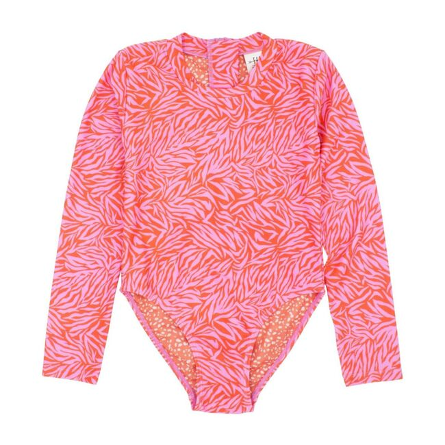Wave Chaser Surf Suit Long Sleeve, Pink