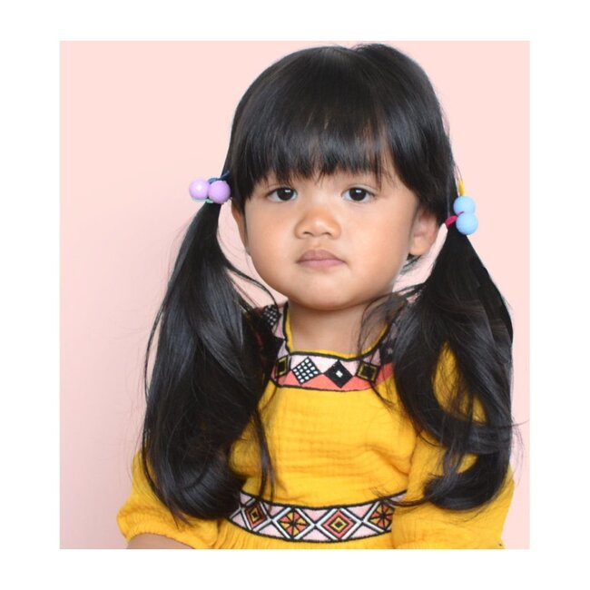 Bubbles Hair Tie, Yellow