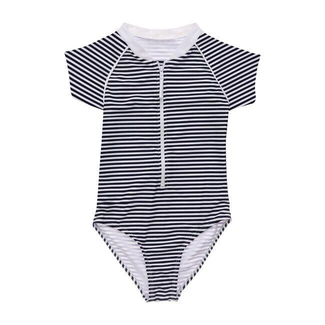 Nautical Stripe Short Sleeve Surf Suit