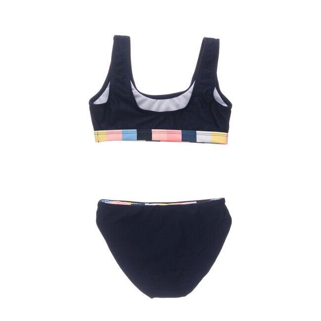 Opti Stripe Scoop Crop Bikini