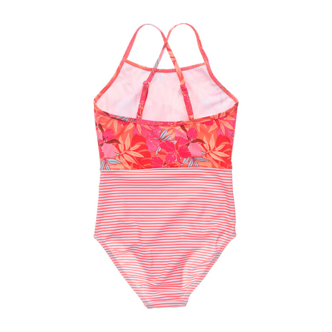 Tropical Punch Classic Cross Back Swimsuit
