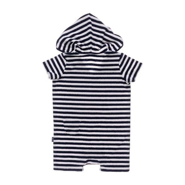 Navy & White Stripe Toweling Onesie