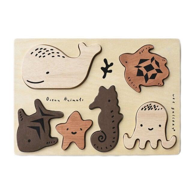 Wooden Tray Puzzle, Ocean Animals