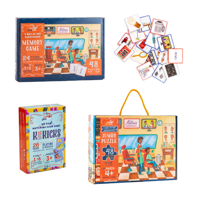 A Day at the Barbershop Alphabet KICKS Puzzle and Game Play Pack