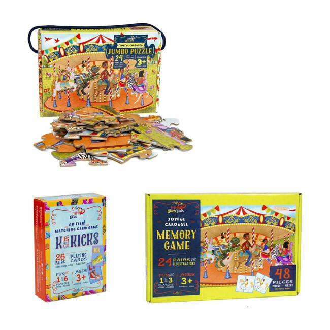 Merry Go Round ABC Puzzle and Game Play Pack